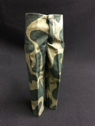 ELITE BRIGADE - TROUSER Green Amoeba Camo - with Pocket to fit Action Man/Gi Joe Adventure Team etc